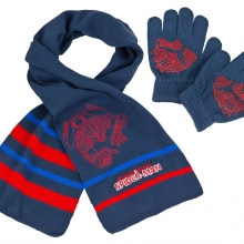 marvel-spiderman-kinderschal-kinderhandschuh-set-blau